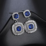 New Zircon Crystal Earrings Korean Fashion Ear Stud High-End Ear Pendant Ear Stud Earrings Jewelry Qxwe1117