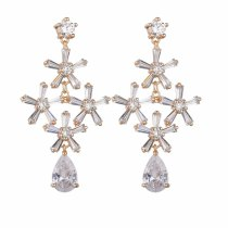 Fashion New Style Vase Earrings AAA Zircon Inlaid Stud Earrings 925 Sterling Silver Ear Pin Exquisite Gorgeous Earrings Qxwe1297