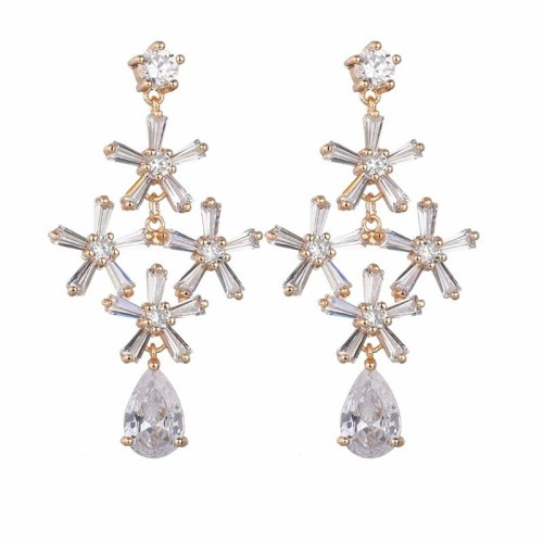 Fashion New Style Vase Earrings AAA Zircon Inlaid Stud Earrings 925 Sterling Silver Ear Pin Exquisite Gorgeous Earrings Qxwe1297