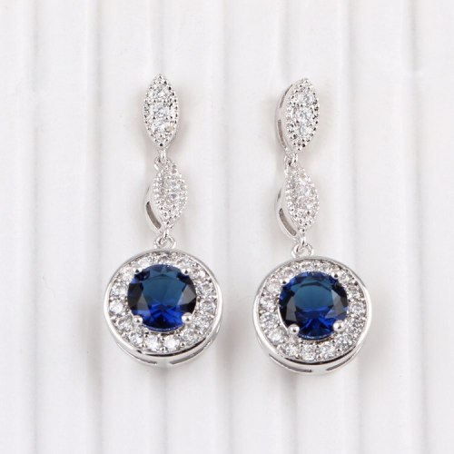 Korean-Style Fashion Zircon Earrings Tassels Delicate Ear Stud Earrings Jewelry QxWE657