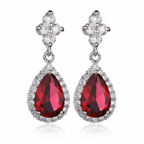 Drop AAA Zircon Earrings Ear Pendant 925 Sterling Silver Ear Pin Korean Fashion Jewelry Earrings Qxwe659