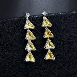 Korean-Style Stud Earrings Several Triangle Earrings Copper AAA Zircon Earrings Sterling Silver Ear Pin Qxwe816