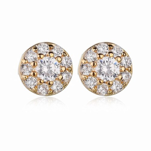 Zircon Earrings AAA Full Diamond Earrings Simple and Versatile Ear Stud Earrings Qxwe631629