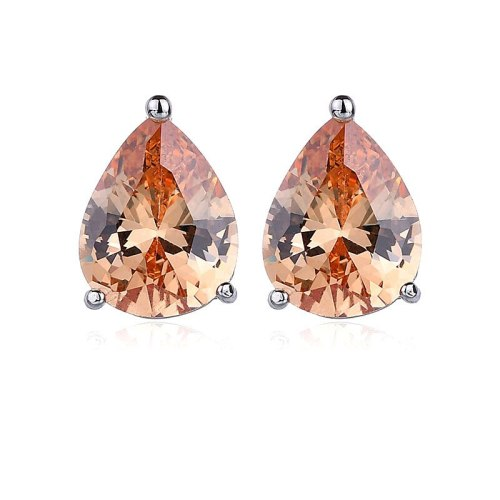 Drop Stud Earrings Copper Inlaid AAA Zircon Earrings Classic Simple Plated Platinum Accessories Earrings Qxwe597