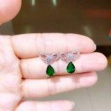 Exquisite Water Drop AAA Zirconium Stone Inlaid Stud Earrings 925 Sterling Silver Earrings Jewelry Qxwe856