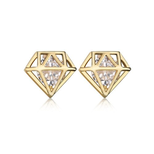 Gemstone Stud Earrings AAA Zircon Inlaid Earrings European and American Earring 18K Platinum Electroplated Jewelry Qxwe427