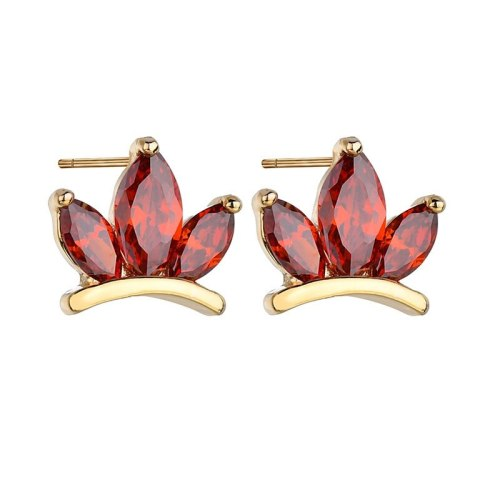 Stud Earrings Hipster Fashion Stud Earrings AAA Zircon Inlaid Girl's Small Jewelry All-match Earrings Qxwe422