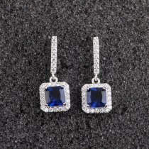 Korean-Style Stud Earrings Micro Pave Square Zircon Earrings Exquisite Fashion Long Earrings Jewelry Qxwe591