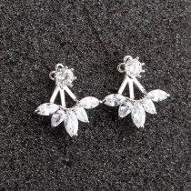 Korean Style 925 Sterling Silver Pin Stud Earrings Korean Style Hanging Earrings Zircon Simple Elegant Female Jewelry Qxwe697