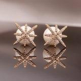 Stud Earrings Cool Trendy Temperament Stars Earrings Sexy All-match Pendant Exaggerated Big Pearl Earrings Qxwe895