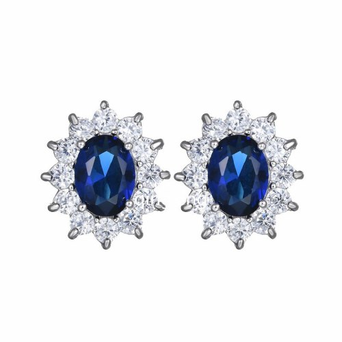European and American AAA Zircon Inlaid Stud Earrings Princess Earrings Exquisite Women's Jewelry Qxwe569