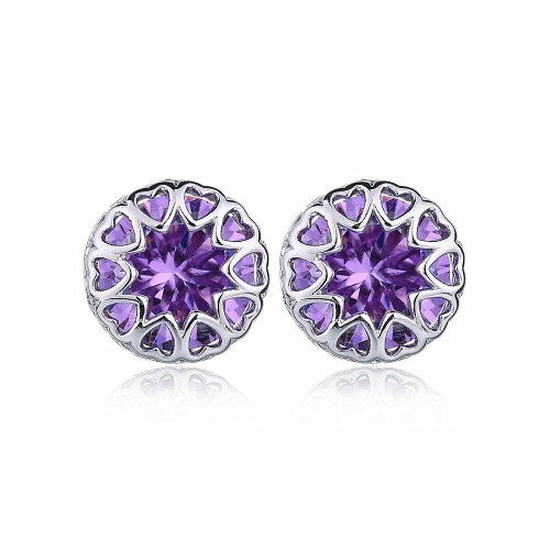 Love Inlaid AAA Zircon Earrings Korean-Style Elegant All-match Fashion Stud Earrings Qxwe067