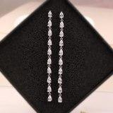 Korean Style AAA Drop-Shaped Zircon Earrings 925 Sterling Silver Needle Ear Stud Tassel Jewelry Earrings Qxwe987