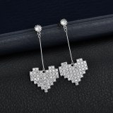 Korean-Style AAA Zircon Micro Pave Earrings S925 Sterling Silver Pin Gorgeous Fashion Trendy Women's Earrings  Qxwe1254