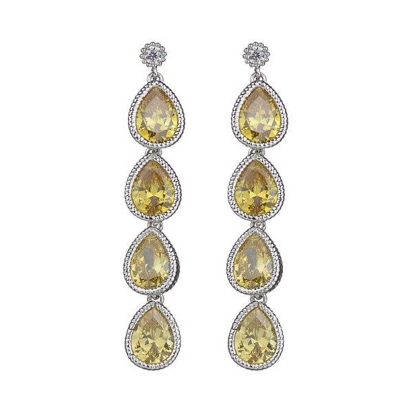 Drop AAA Zircon Earrings 925 Sterling Silver Needle Ear Stud Earrings Long Earrings Korean Style Fashion Qxwe855