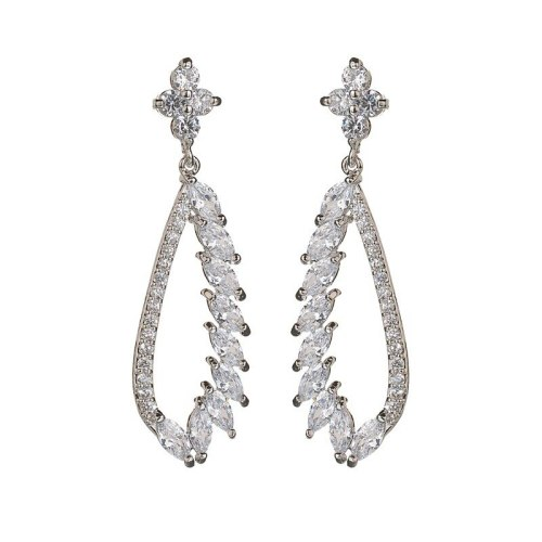 Luxury Exaggerated Fashion New Symmetrical Angel Wings Stud Earrings European and American Earrings  Qxwe953