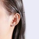 S925 Sterling Silver Creative Zircon Butterfly Stud Earrings Korean Simple Earrings Jewelry Mle1939