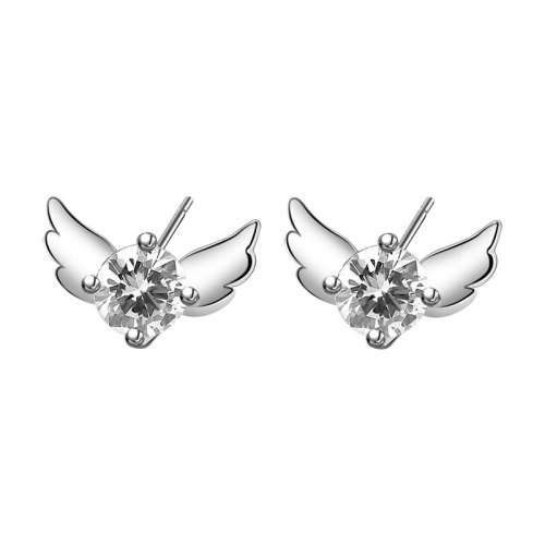S925 Sterling Silver Creative Zircon Butterfly Stud Earrings Korean Simple Earrings Jewelry Mle1939