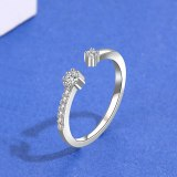 S925 Sterling Silver Simple Diamond Ring Female Korean Fashion Hand Jewelry Mlk873