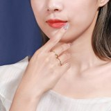 S925 Sterling Silver Simple Creative Double-Wear Open Ring Female Korean New Hand Jewelry Mlk872