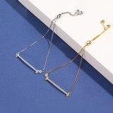 S925 Silver Simple Design Diamond Set Smile Bracelet Female Korean Hand Jewelry Mll508