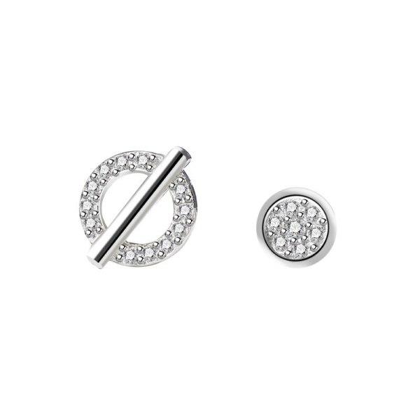 S925 Silver Creative Design Zircon Earrings Korean Simple Popular Stud Earrings Jewelry Mle2164
