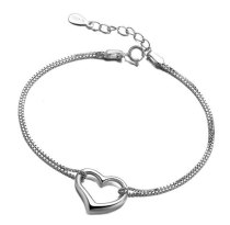 S92 5 Sterling Silver Lovely Bracelet Korean Simple Popular Hand Jewelry Mll050
