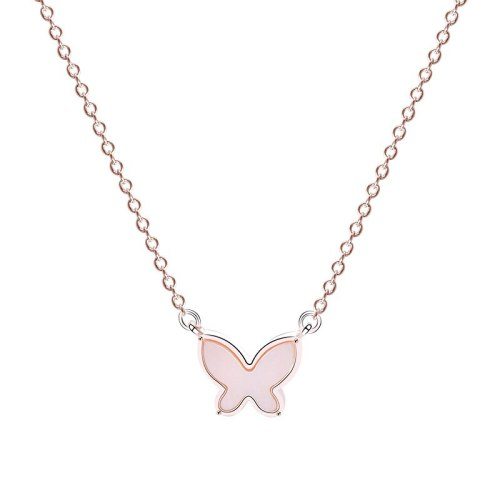 S925 Silver Creative Design Butterfly Necklace Female Japanese and Korean Simple Necklace Silver Mla232a