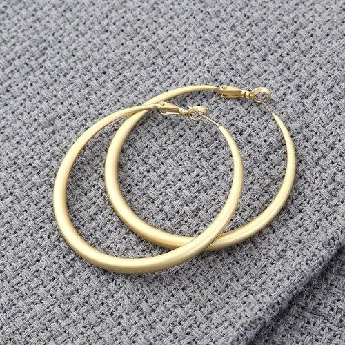 European and American All-match Earrings Fashion Big Circle Stud Earrings Women's Jewelry 139856