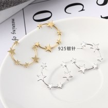 S925 Silver Needle Korean Fashion Simple Star Earrings Female Cool All-match Five-Pointed Star Stud Earrings Wholesale 138962