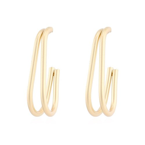 S925 Silver Pin Earrings European and American Fashion Simple Small Banana Metal Earrings Female Small Jewelry 140013