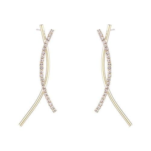 Women's Korean-Style Creative Fashion Personalized All-match Cross Detachable Earrings Small Jewelry B-4450
