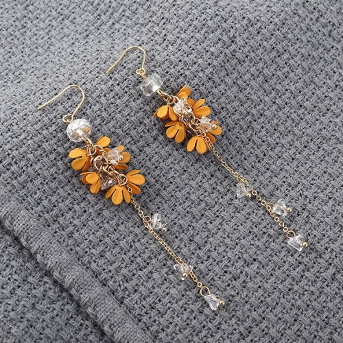 Korean Creative Cool Long Tassel Earrings Hipster Flower Earrings Female All-match Fashion Jewelry Wholesale 139871