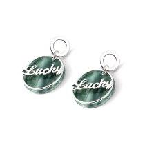 Korean Style Simple Fashion Lettered Lucky Earrings Circle Earrings 925 Sterling Silver Ear Stud Earrings Jewelry  138921