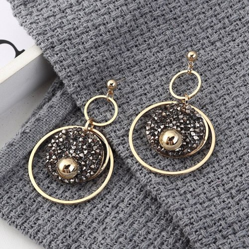 S925 Sterling Silver Needle Stud Earrings Women's Large Ring Earrings Exaggerated Korean-Style Simple Jewelry  Wholesale 139596