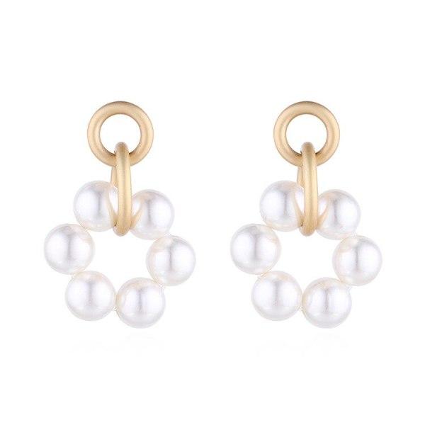 European and American Hot Pearl Earrings Women S925 Sterling Silver Needle Stud Earrings Metal Small Jewelry 140151