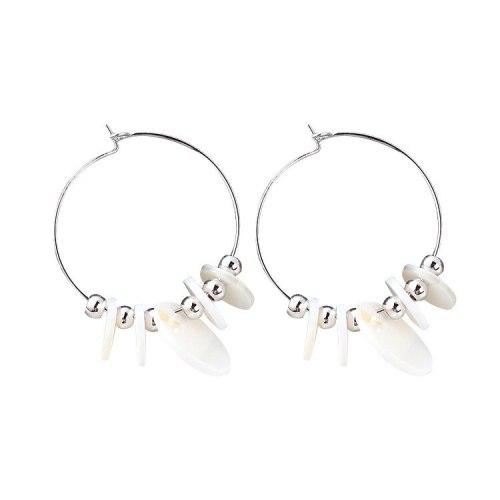 Korean Style New Fashion Cool Geometric Circle Ball Stud Earrings Female Temperament Acrylic Earrings 138849