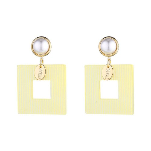 European and American Fashion Hipster Cool Acrylic Earrings Girls All-match Pearl S925 Silver Needle Earrings Jewelry 140390
