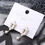 Korean-Style Simple Zircon Earrings Female Pearl Earrings Silver Needle Stud Earrings 138919