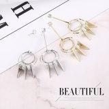 European Exaggerated Triangle Stud Earrings Women's Fashion Creative Zircon Earrings Anti-Allergy Earrings Small Jewelry 138931