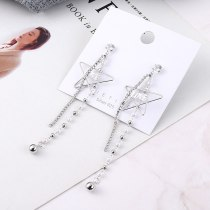 Tassel Earrings Female Long Korean Fashion Love Lettered Stud Earrings Five-Pointed Star Sterling Silver Needle Jewelry 138901