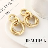 Korean Style New Creative Cool Ring Metal Earrings Female Fashion Small Jewelry 140152