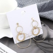 Korean-Style Anti-Allergy S925 Sterling Silver Needle Ear Stud Fashion Simple Gourd Circle Ball Ear Stud Zircon Earrings 138843