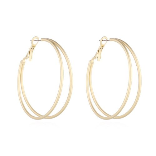 European and American Simple Double-Layer Circle Earrings Women's All-match Popular Small Jewelry 140156