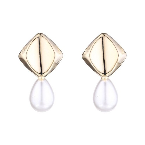 New European and American Simple Pearl Earrings Women's Retro S925 Silver Needle Stud Earrings All-match Jewelry B-422