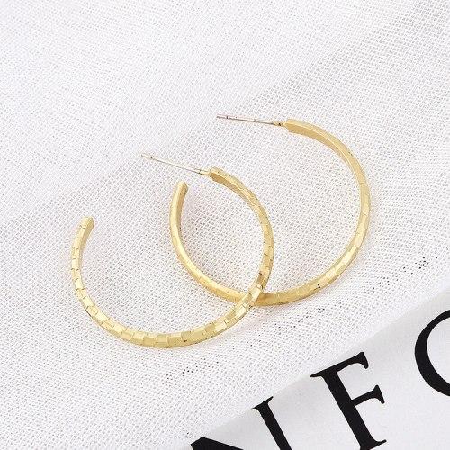 Fashion Jewelry Korean Temperament Cool Half Circle C- Shaped Earrings Female Simple 925 Silver Needle Stud Earrings 138728