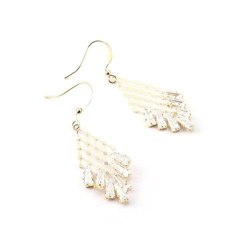 European New Fashion Temperament Diamond Star and Sun Earrings Women Zircon Earrings Fashion Jewelry Wholesale 138952