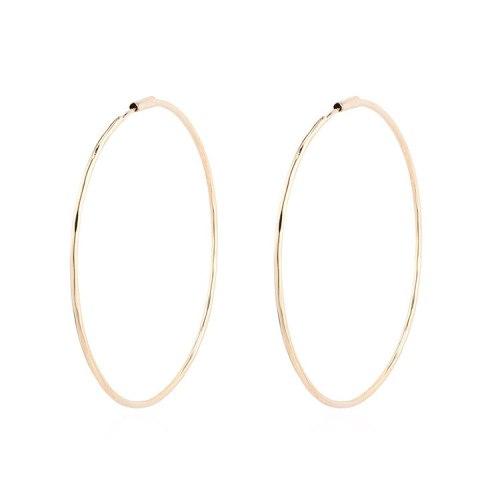 European Exaggerated Big Earrings Simple and Versatile Ring Earrings Female Sterling Silver Needle Stud Earrings Jewelry 140106