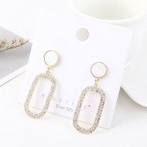 S925 Silver Needle Stud Earrings Korean Elegant Diamond Set Earrings Women's Simple Jewelry  B-4517