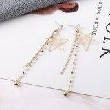 Tassel Earrings Female Long Korean Fashion Love Lettered Stud Earrings Five-Pointed Star Sterling Silver Needle Jewelry 138901